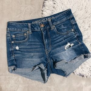 American Eagle Hi Rise Denim Shorts
